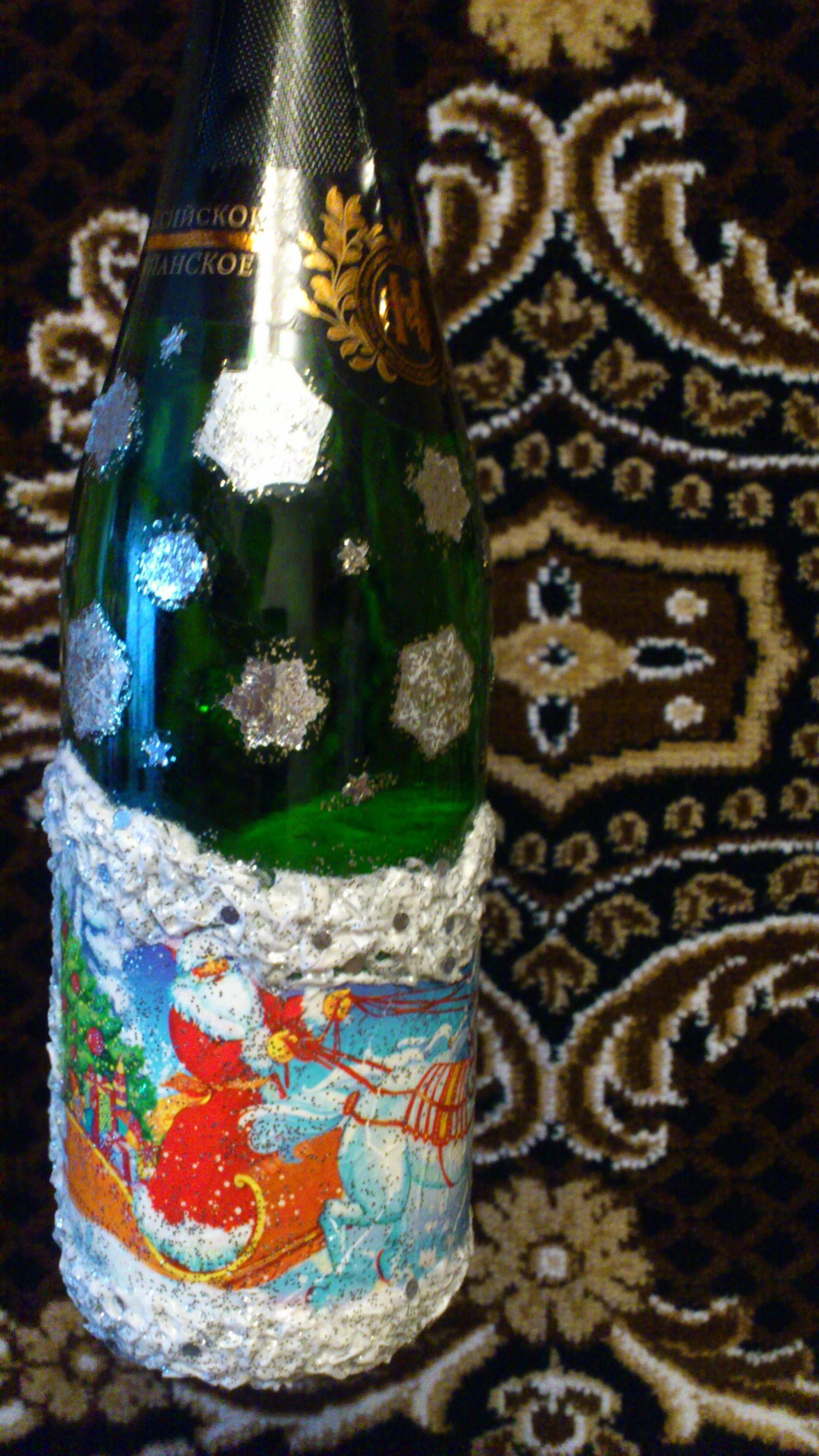 Поделки бутылки 34