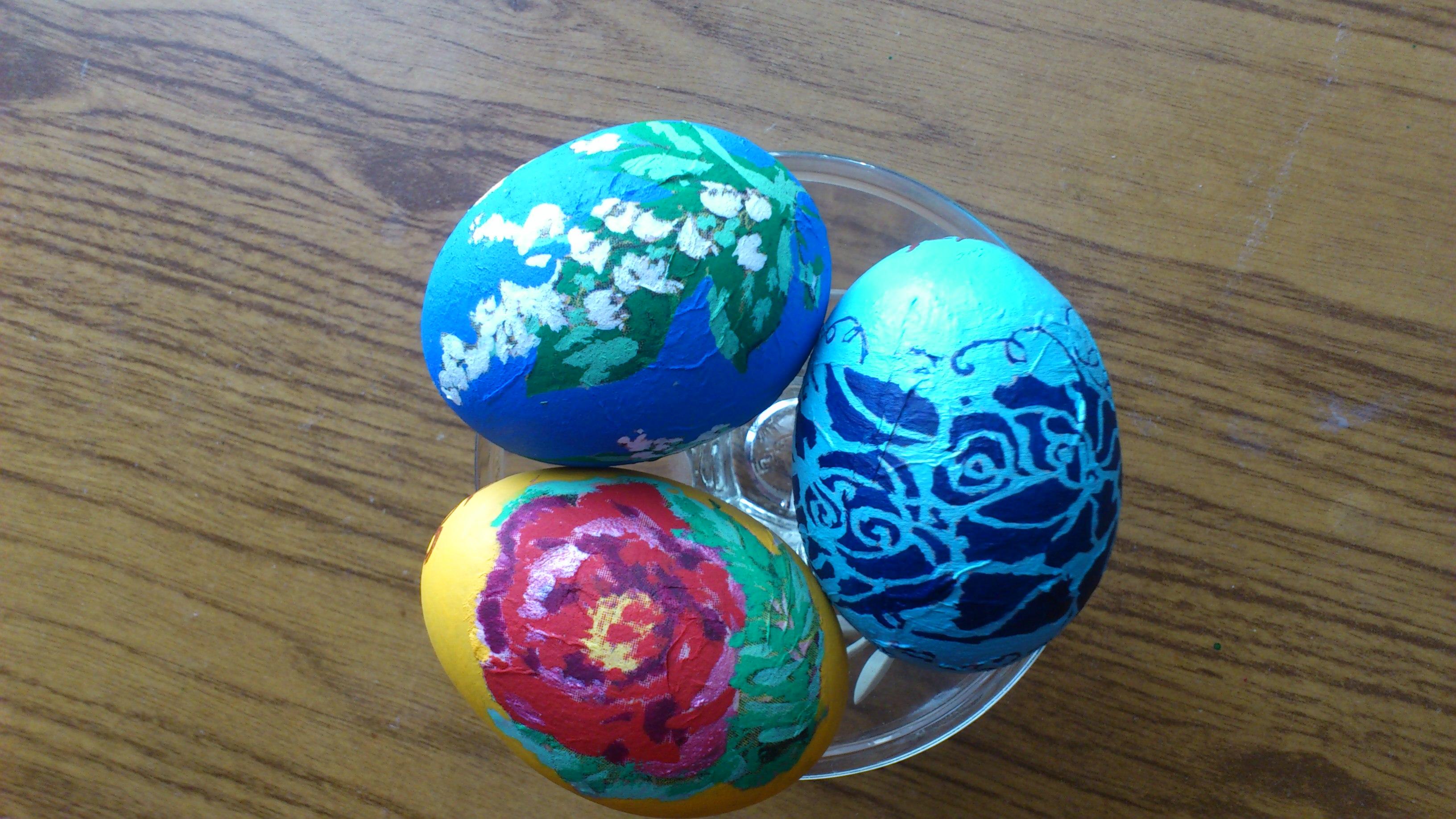 Оформление пасхальных яиц своими руками