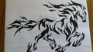 распечатка конь