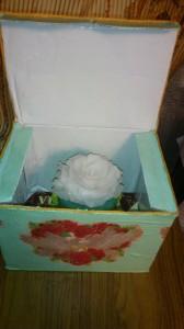 свеча в коробке