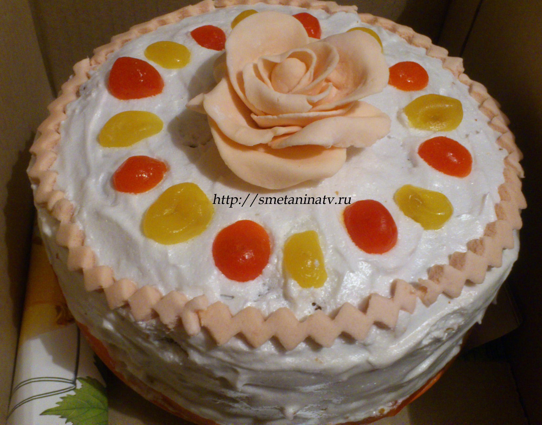 Чем украсить бисквитный торт в домашних условиях