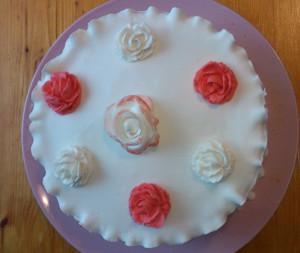 торт с верху