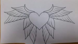 шаблон крылья